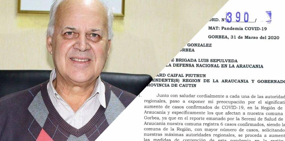 ALCALDE SOLICITA CORDÓN SANITARIO PARA LA COMUNA DE GORBEA